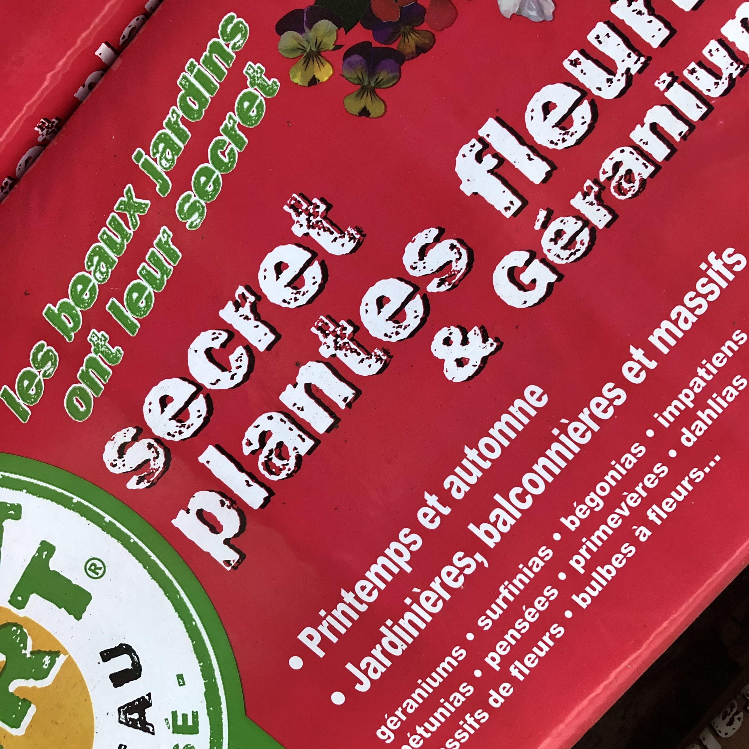 Terreau Rempotage Secret Vert 40 litres