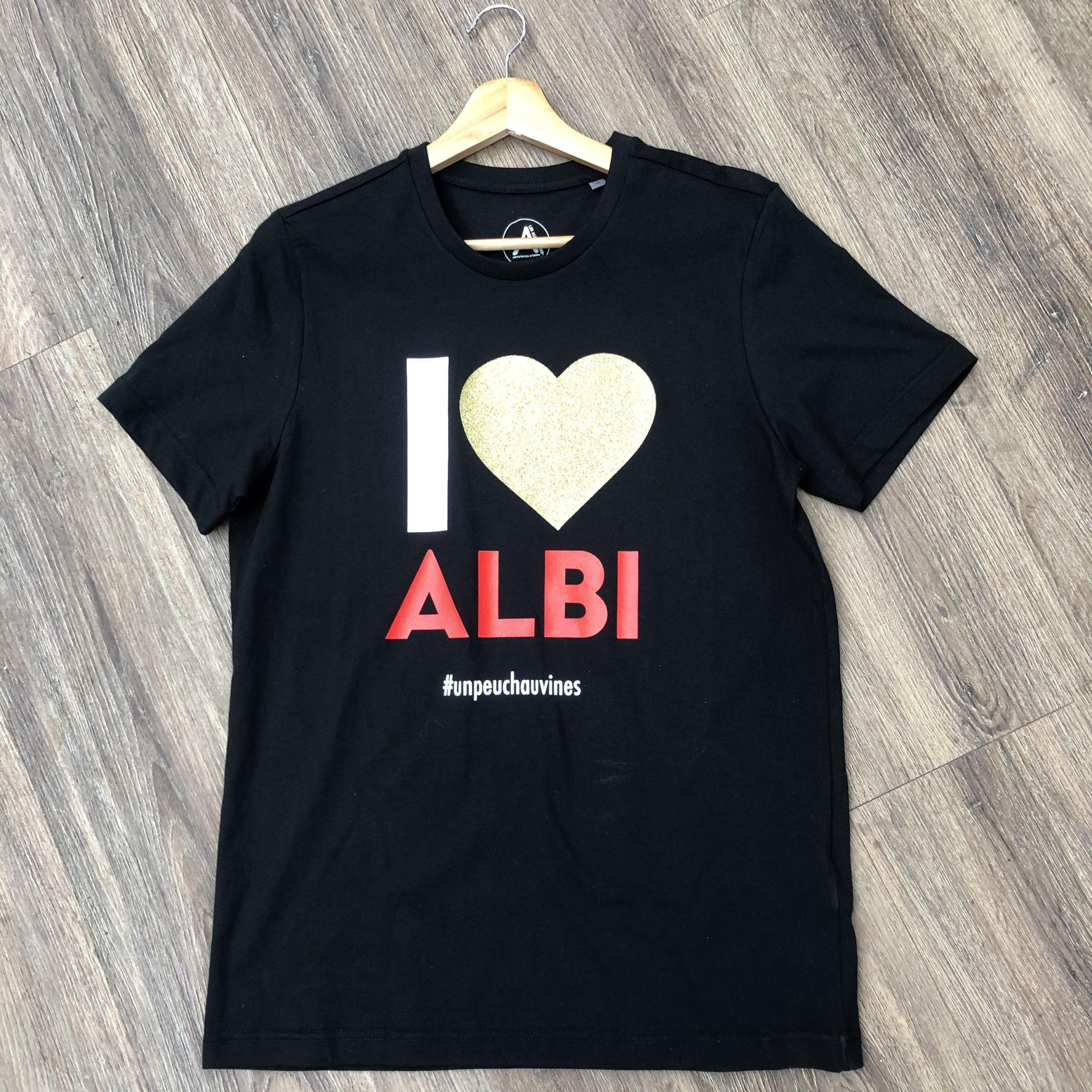 Teeshirt <span>I love Albi</span> Noir Col V