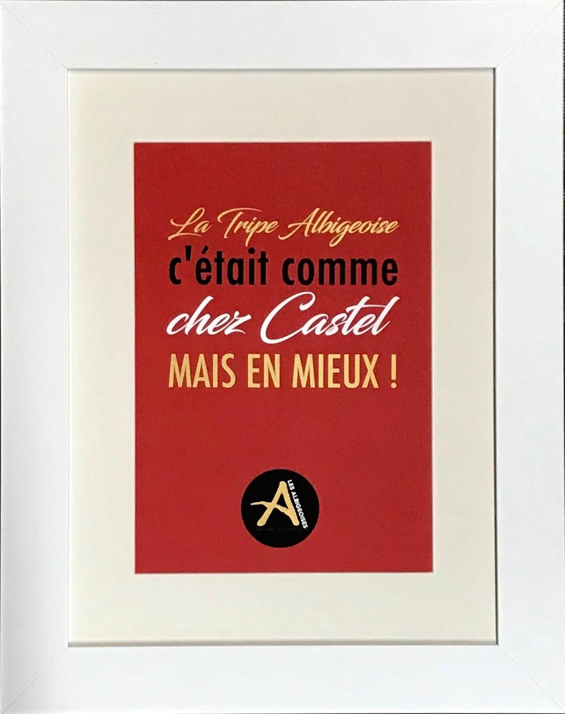 La Tripe Cadre Blanc 40 x 50 cm