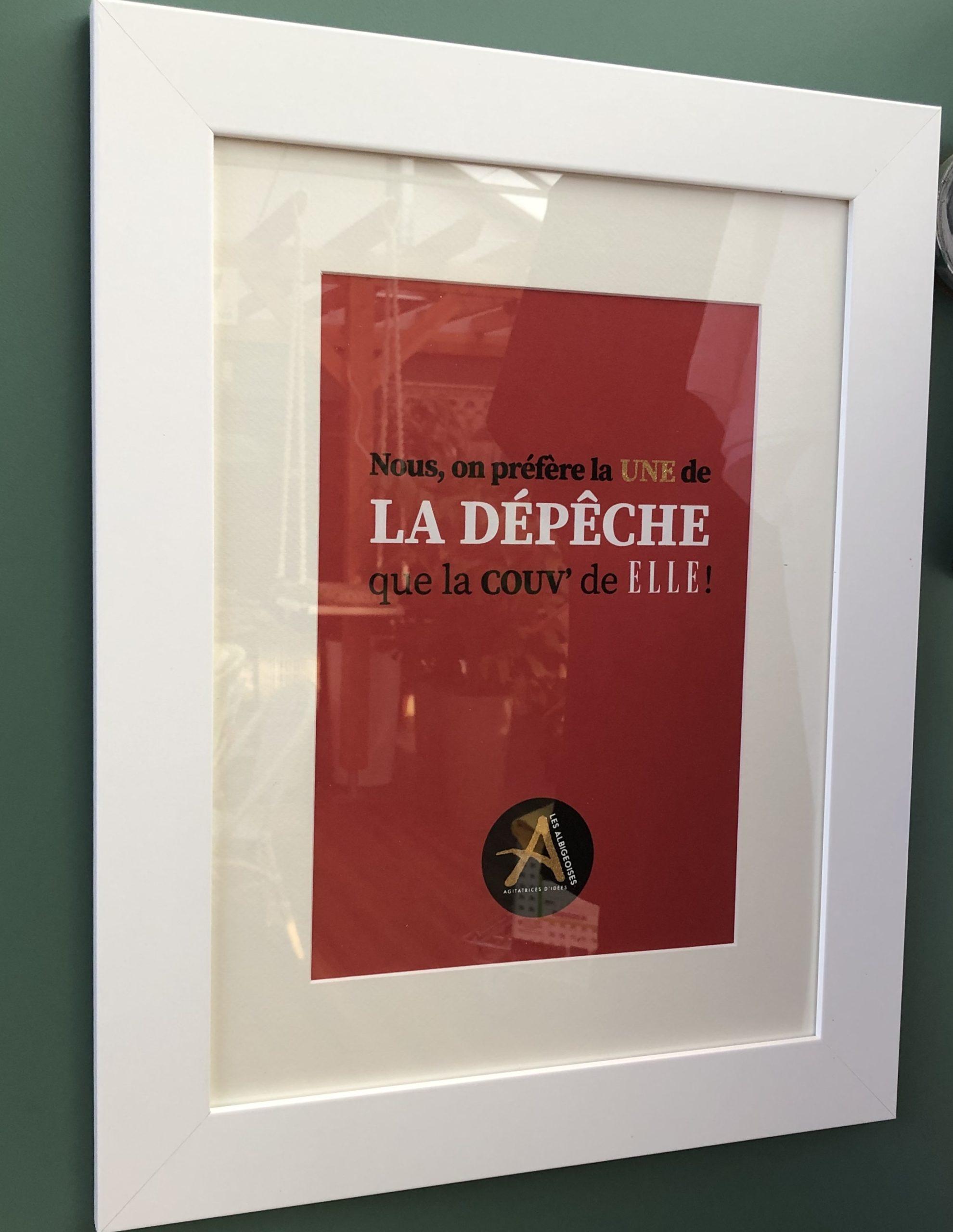 La Dépèche Cadre Blanc 40 x 50 cm