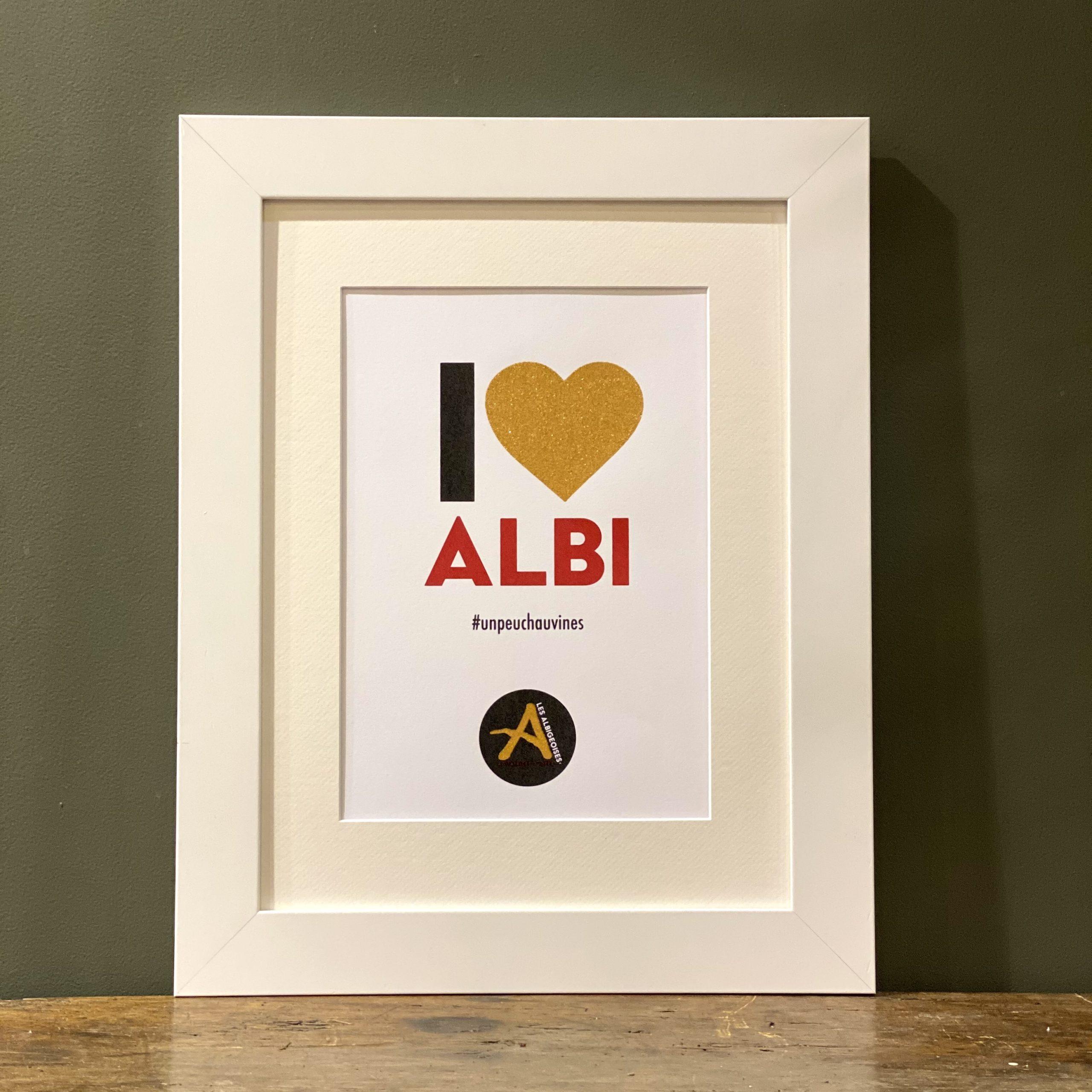 I Love Albi <span>Blanc</span> Cadre blanc 40 x 50